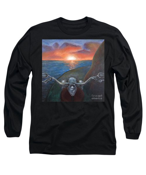 Motorcycle Sunset Long Sleeve T-Shirt