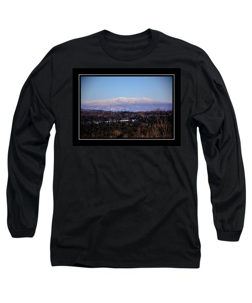 Mount Moosilauke Snowy Blanket Long Sleeve T-Shirt