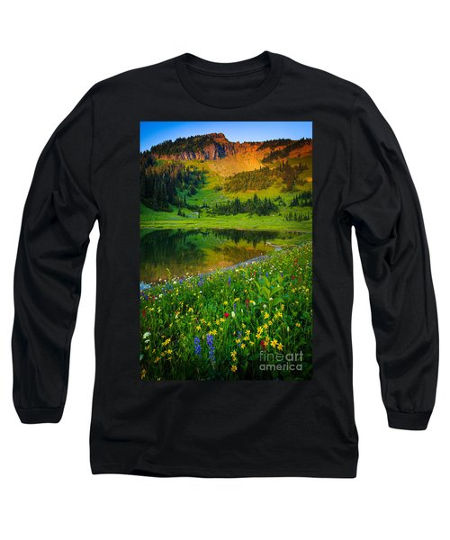 Mount Rainier Lake Long Sleeve T-Shirt
