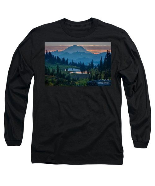 Mount Rainier Layers Long Sleeve T-Shirt by Mike Reid