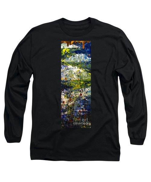 Long Sleeve T-Shirt featuring the painting Mountain Creek by Jacqueline Athmann