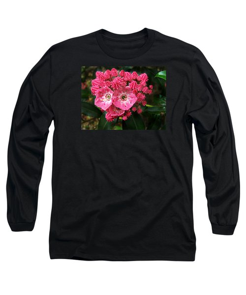 Mountain Laurel ' Olympic Fire ' Long Sleeve T-Shirt by William Tanneberger