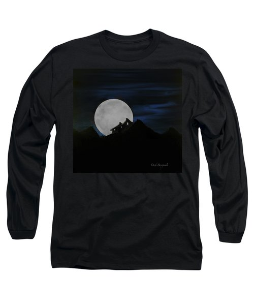 Mountain Monastery Long Sleeve T-Shirt by Dick Bourgault