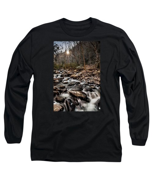 Long Sleeve T-Shirt featuring the photograph Icy Mountain Stream by Debbie Green