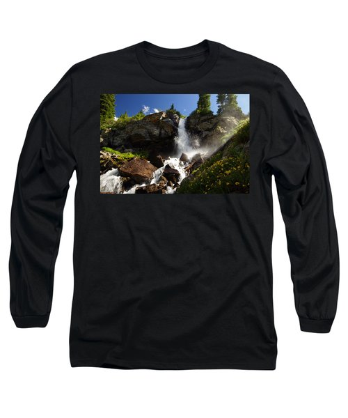 Mountain Tears Long Sleeve T-Shirt by Jeremy Rhoades
