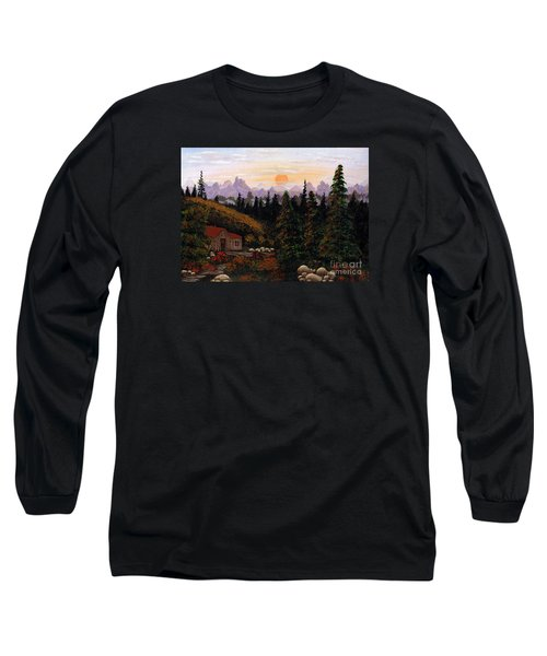 Mountain View Long Sleeve T-Shirt by Barbara Griffin