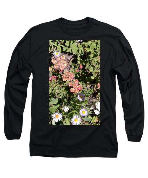 Long Sleeve T-Shirt featuring the photograph Mountain Wildflowers by Fortunate Findings Shirley Dickerson