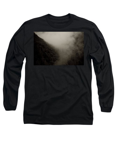 Mountains And Mist Long Sleeve T-Shirt by Shane Holsclaw