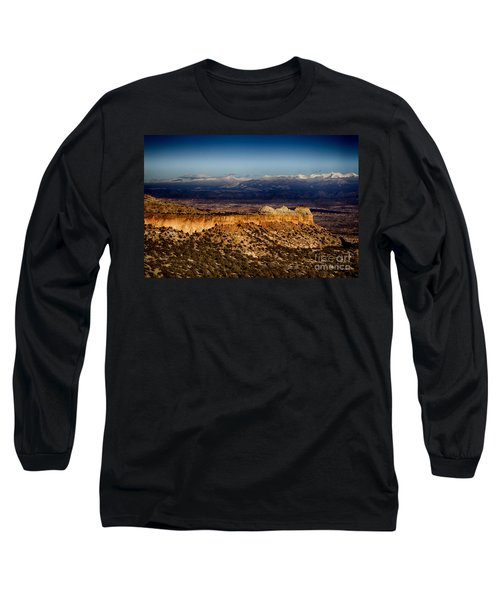 Mountains At Senator Clinton P. Anderson Scenic Route Overlook  Long Sleeve T-Shirt