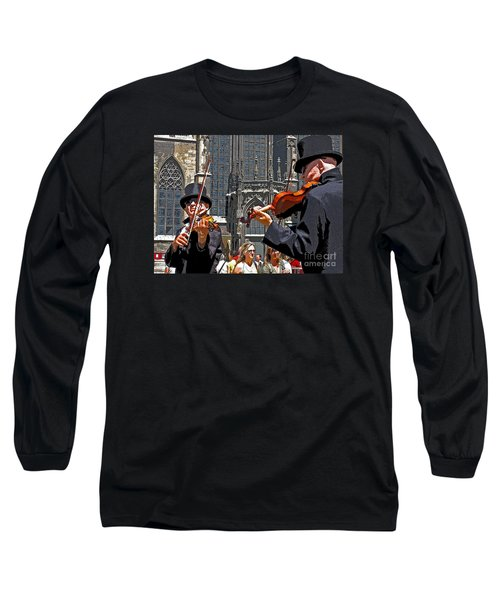 Long Sleeve T-Shirt featuring the photograph Mozart In Masquerade by Ann Horn
