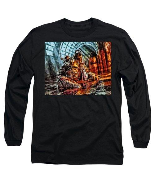 Mr. Bubbles Please Get Up Long Sleeve T-Shirt by Joe Misrasi