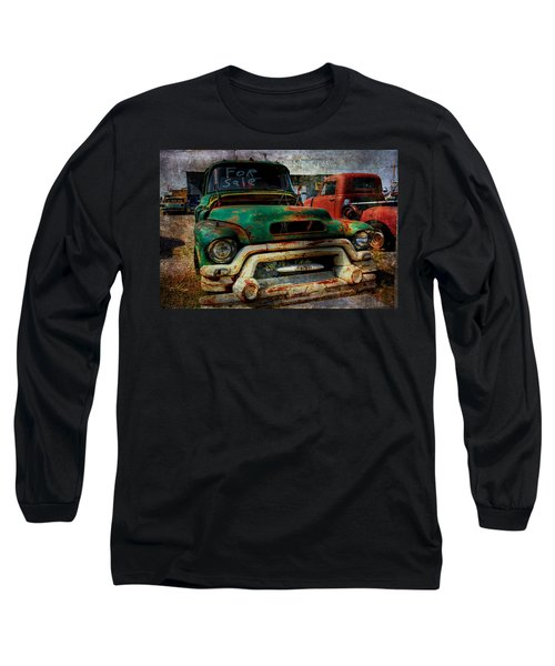 Long Sleeve T-Shirt featuring the photograph Mr Green 4 Sale by Toni Hopper