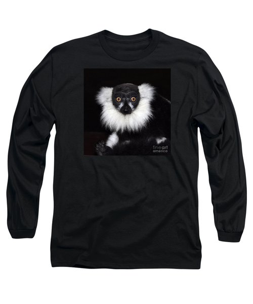 Long Sleeve T-Shirt featuring the photograph Mr Lemur by Terri Waters