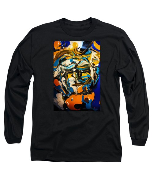 Long Sleeve T-Shirt featuring the painting Mr. Rainbow With A Fried Egg Sunny Side Up by Kicking Bear  Productions