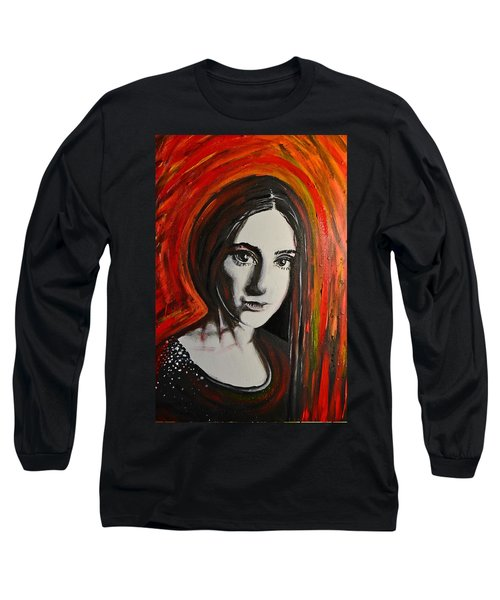 Portrait In Black #x Long Sleeve T-Shirt by Sandro Ramani
