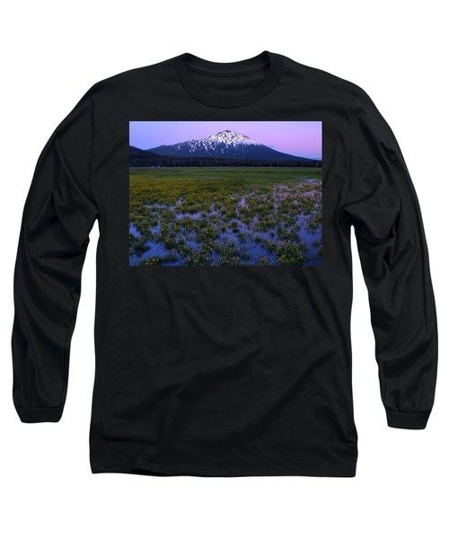 Mt. Bachelor Twilight Long Sleeve T-Shirt by Kevin Desrosiers