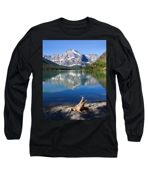 Mt Gould Reflections Long Sleeve T-Shirt by Jack Bell