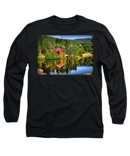 Mt. Snow In Summer Long Sleeve T-Shirt by Mitchell R Grosky