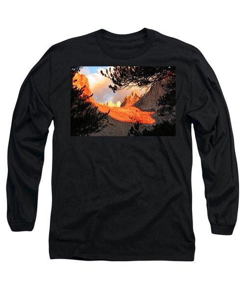 Long Sleeve T-Shirt featuring the photograph Mt. Whitney Sunrise by Alan Socolik