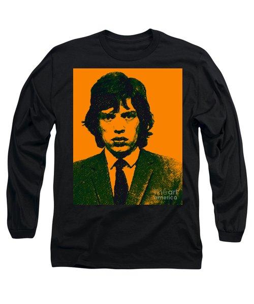 Mugshot Mick Jagger P0 Long Sleeve T-Shirt