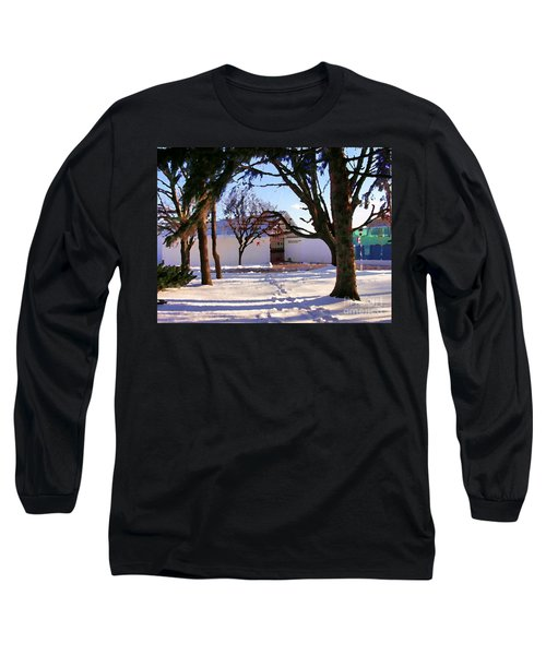 Abstract Of Center For The Arts Exterior Allentown Pa Long Sleeve T-Shirt