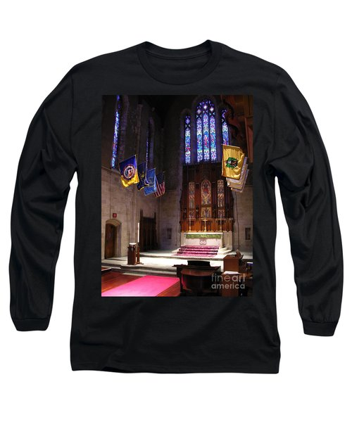 Egner Memorial Chapel Altar Long Sleeve T-Shirt by Jacqueline M Lewis