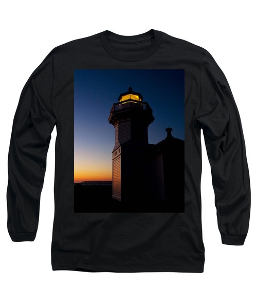 Long Sleeve T-Shirt featuring the photograph Mukilteo Light House Sunset by Sonya Lang