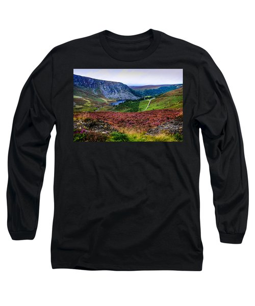 Multicolored Carpet Of Wicklow Hills. Ireland Long Sleeve T-Shirt