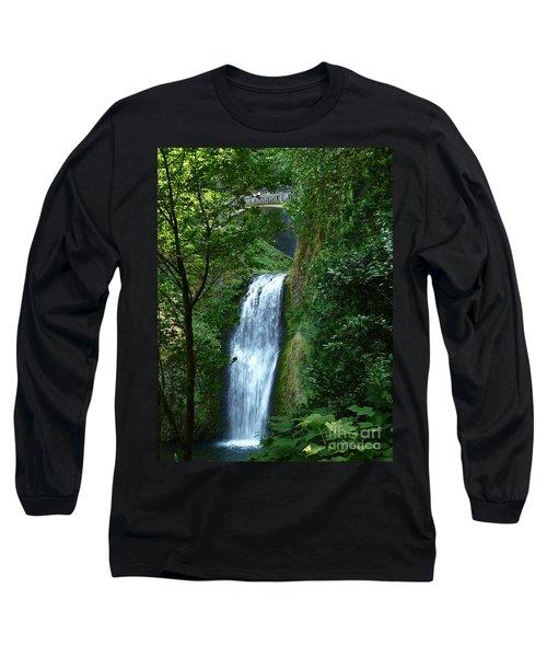 Multnomah Falls Bridge 2 Long Sleeve T-Shirt
