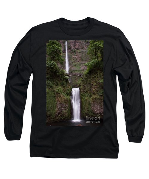 Long Sleeve T-Shirt featuring the photograph Multnomah Falls by Suzanne Luft