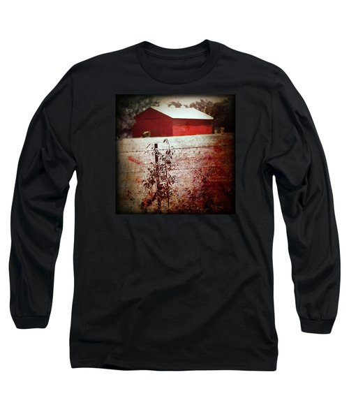 Murder In The Red Barn Long Sleeve T-Shirt by Trish Mistric