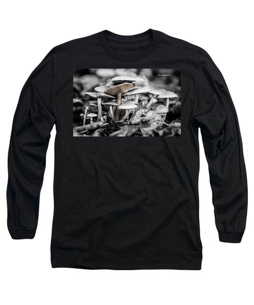 Long Sleeve T-Shirt featuring the photograph Mushrooms by Stwayne Keubrick