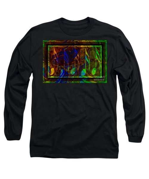 Long Sleeve T-Shirt featuring the digital art Music Is Magical Abstract Healing Art by Omaste Witkowski