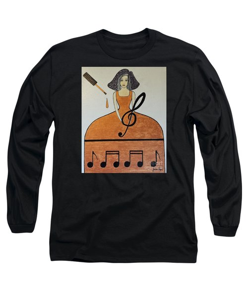 Music Lover Long Sleeve T-Shirt by Jasna Gopic