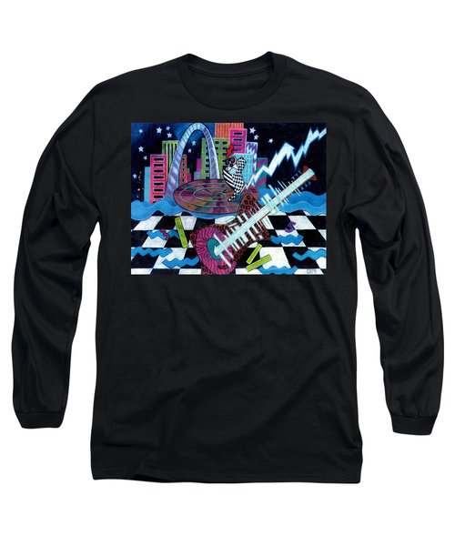 Music On The River Stl Style Long Sleeve T-Shirt