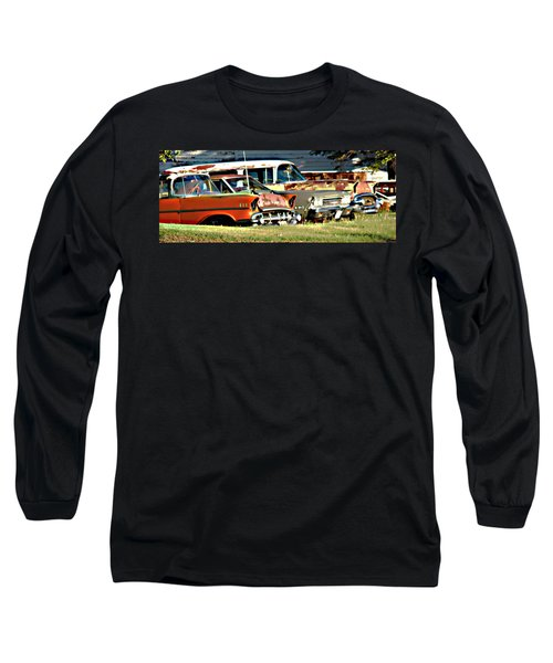 Long Sleeve T-Shirt featuring the digital art My Cars by Cathy Anderson