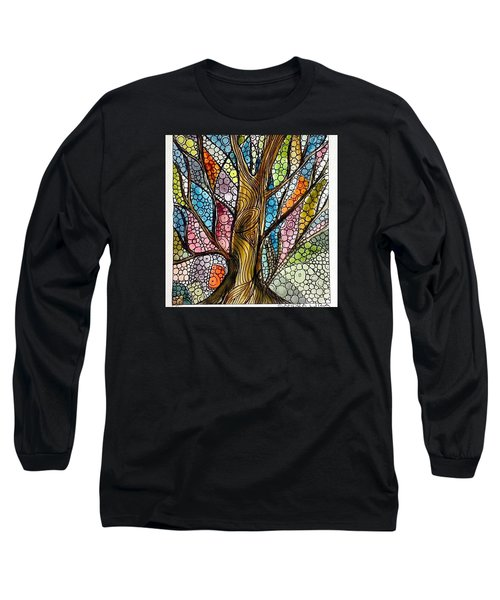 My Happy Watercolor Tree Long Sleeve T-Shirt