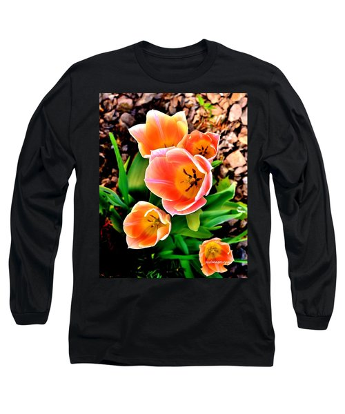 My Mom's Tulips Long Sleeve T-Shirt