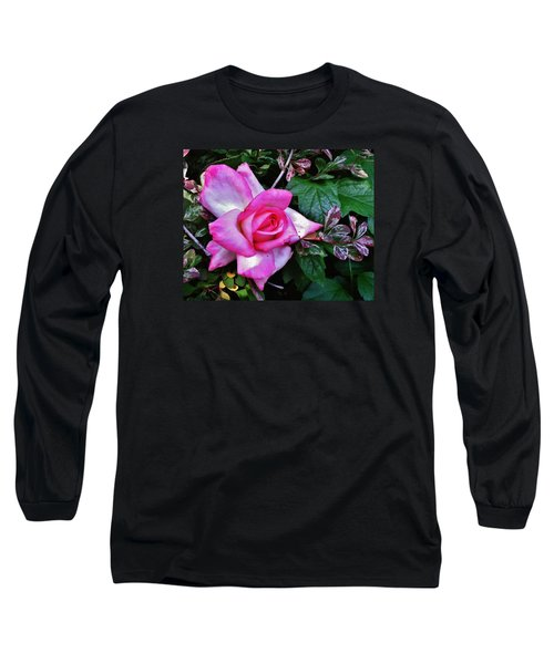 Long Sleeve T-Shirt featuring the photograph My Perfect Tea Rose by VLee Watson