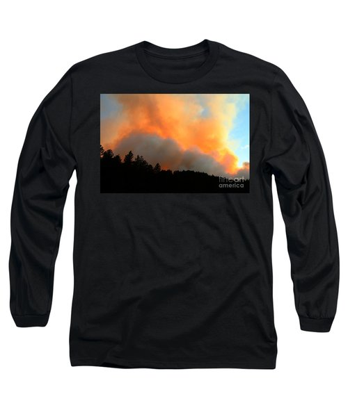 Myrtle Fire Near Rifle Pit Road Long Sleeve T-Shirt