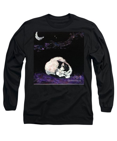 Mystic Cat Nap  Long Sleeve T-Shirt by Reina Resto