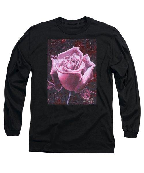 Mystic Rose Long Sleeve T-Shirt by Vivien Rhyan