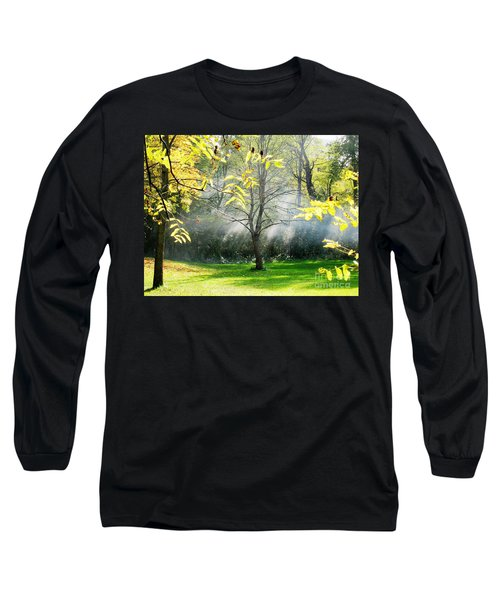 Long Sleeve T-Shirt featuring the photograph Mystical Parkland by Nina Silver