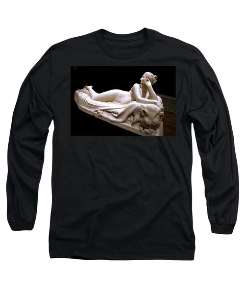 Long Sleeve T-Shirt featuring the photograph Canova's Naiad by Cora Wandel