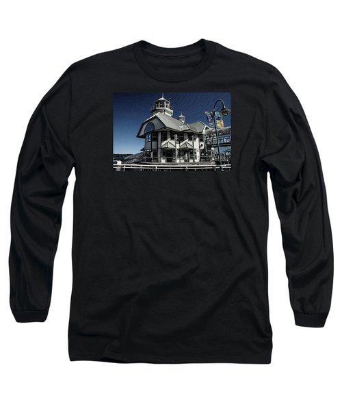 Long Sleeve T-Shirt featuring the digital art Nanaimo Bistro by Richard Farrington