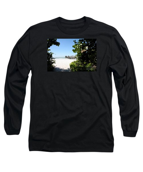 Naples Pier View Long Sleeve T-Shirt by Christiane Schulze Art And Photography