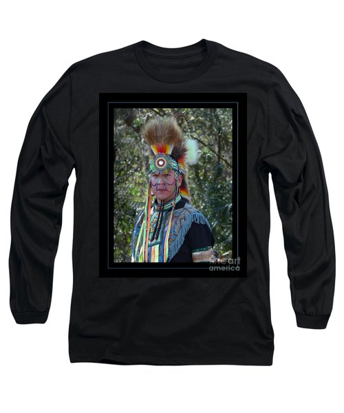 Native American Portrait Long Sleeve T-Shirt