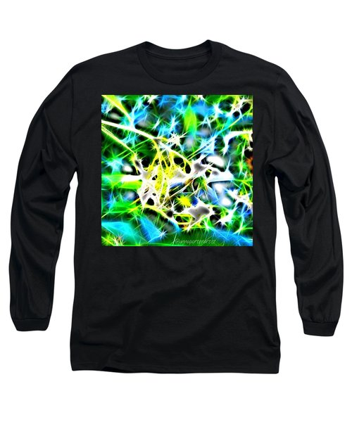 Nature Abstracted Long Sleeve T-Shirt by Anna Porter