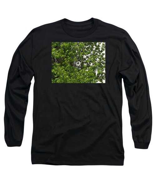 Nature's Art - Wellness Works Glendale - Face In The Tree  Long Sleeve T-Shirt