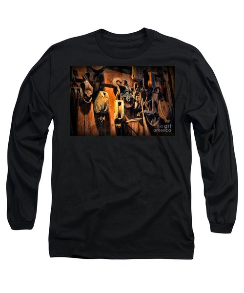 Long Sleeve T-Shirt featuring the photograph Nautical - Boat - Block And Tackle  by Paul Ward